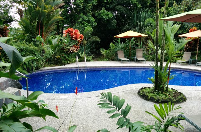 Piscina del hotel Villa Vilma
