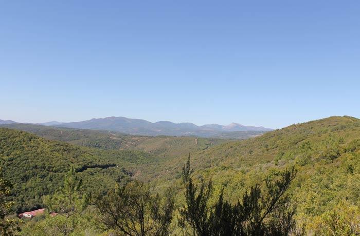 Vista de la Sierra de Francia senderismo en Salamanca Miradores de las Sierras