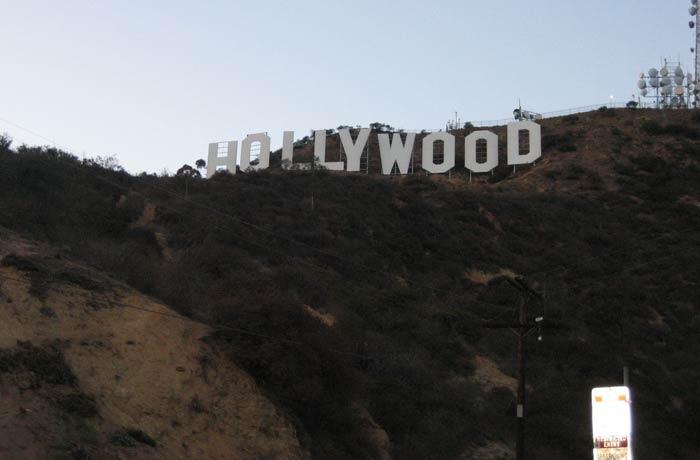 Cartel de Hollywood desde lo máximo que nos acercamos