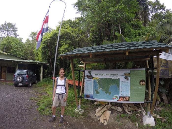 Entrada al Parque Nacional Manuel Antonio
