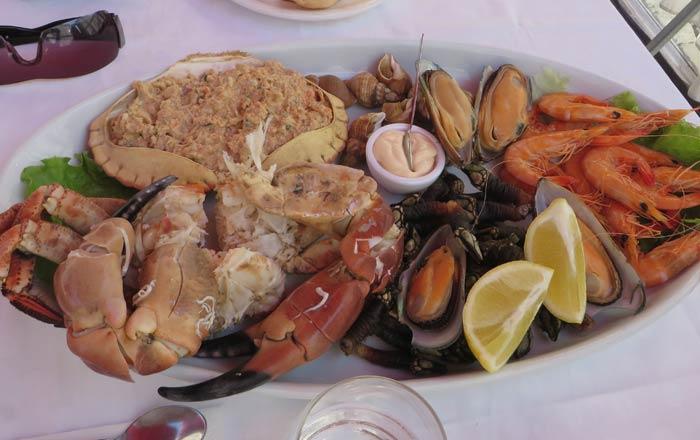 Mariscada del Restaurante Serpa Pinto de Matosinhos comer en Oporto