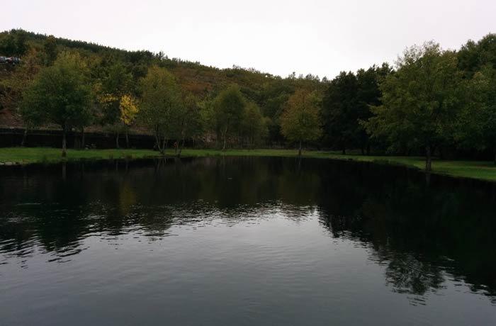 Zona verde y laguna de Trutalcoa