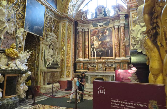 Capilla de la Lengua de Aragón, Cataluña y Navarra de la Concatedral de San Juan qué ver en La Valeta
