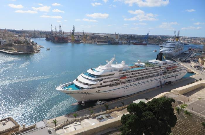 Cruceros en el Gran Puerto de La Valeta