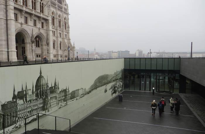 Centro de recepción de visitantes visita al Parlamento de Budapest