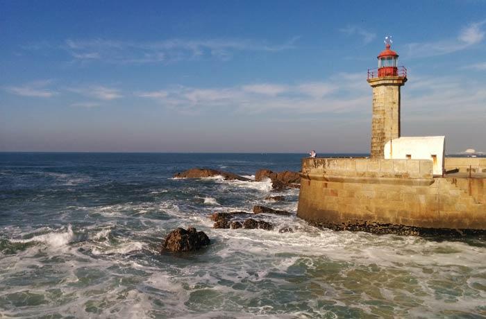 Faro de Felgueiras desembocadura del Duero