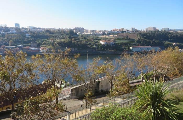 El Duero y Vila Nova de Gaia desde los Jardines del Palacio de Cristal
