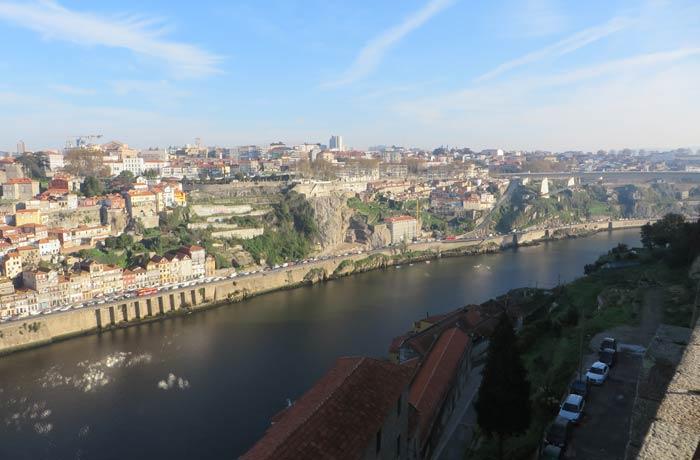 Zona este de Oporto desde el Monasterio de la Sierra del Pilar