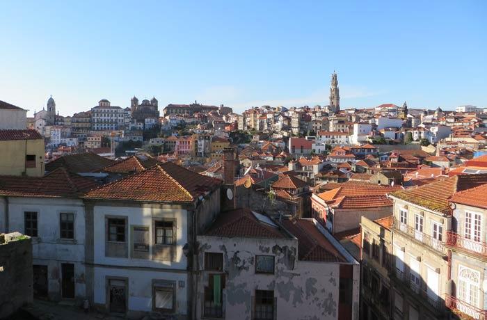 Panorámica del casco antiguo de Oporto desde la Sé