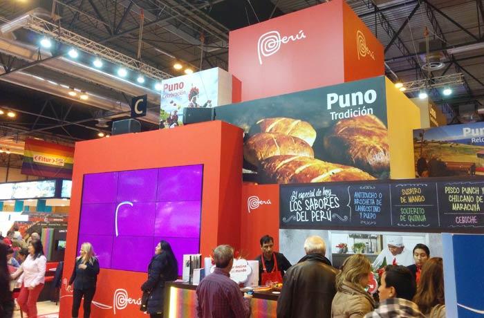 Gastronómico estand de Perú Fitur 2016