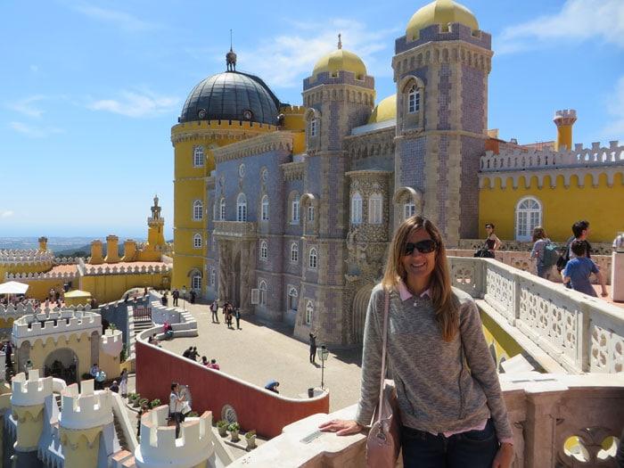 Vista lateral del Palacio da Pena qué ver en Sintra