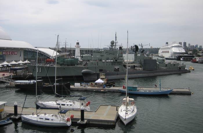 Uno de los buques que se exponen en el Museo Marítimo Nacional de Australia qué ver en Sídney