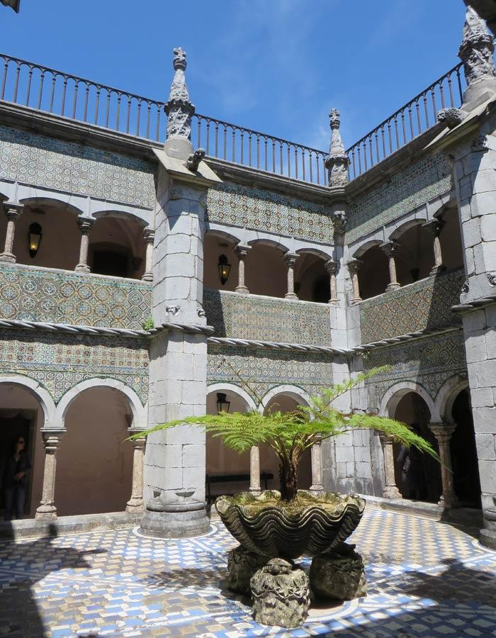 Patio interior del Palacio da Pena qué ver en Sintra