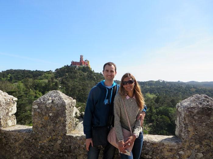 Palacio da Pena desde el Castelo dos Mouros qué ver en Sintra