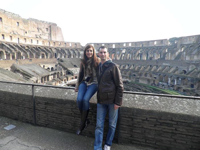 Interior del Coliseo Roma en tres días