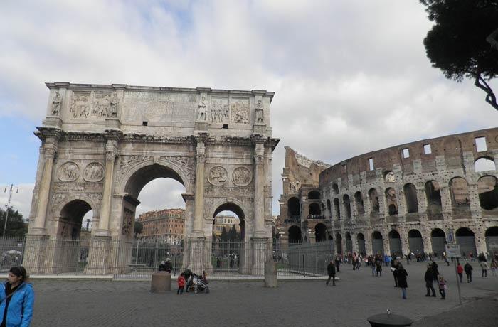 Arco de Constantino y Coliseo