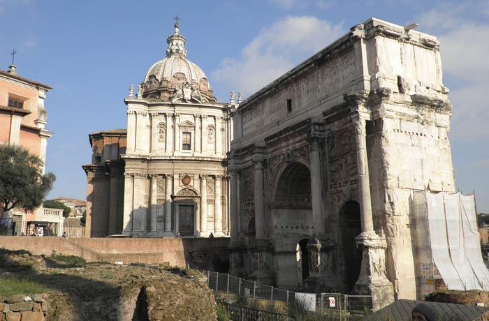 Arco de Septimio y Severo Coliseo y Foro Romano