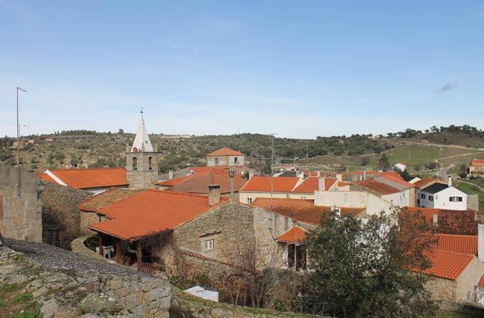 Vista desde Castelo Mendo desde el castillo