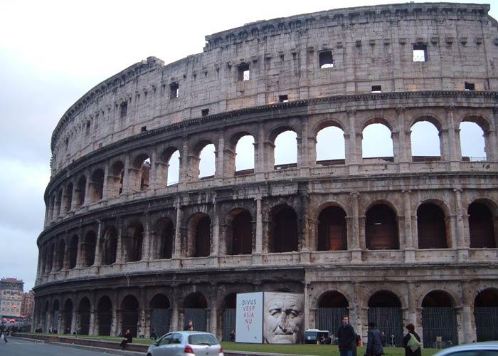 Parte mejor conservada del exterior del Coliseo