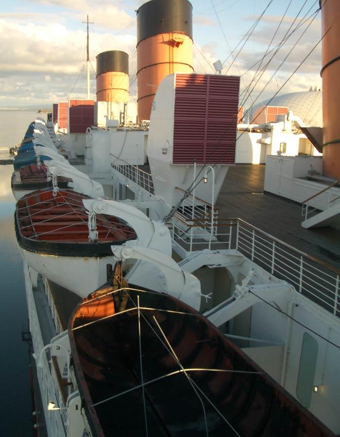 Los botes salvavidas originales del Queen Mary