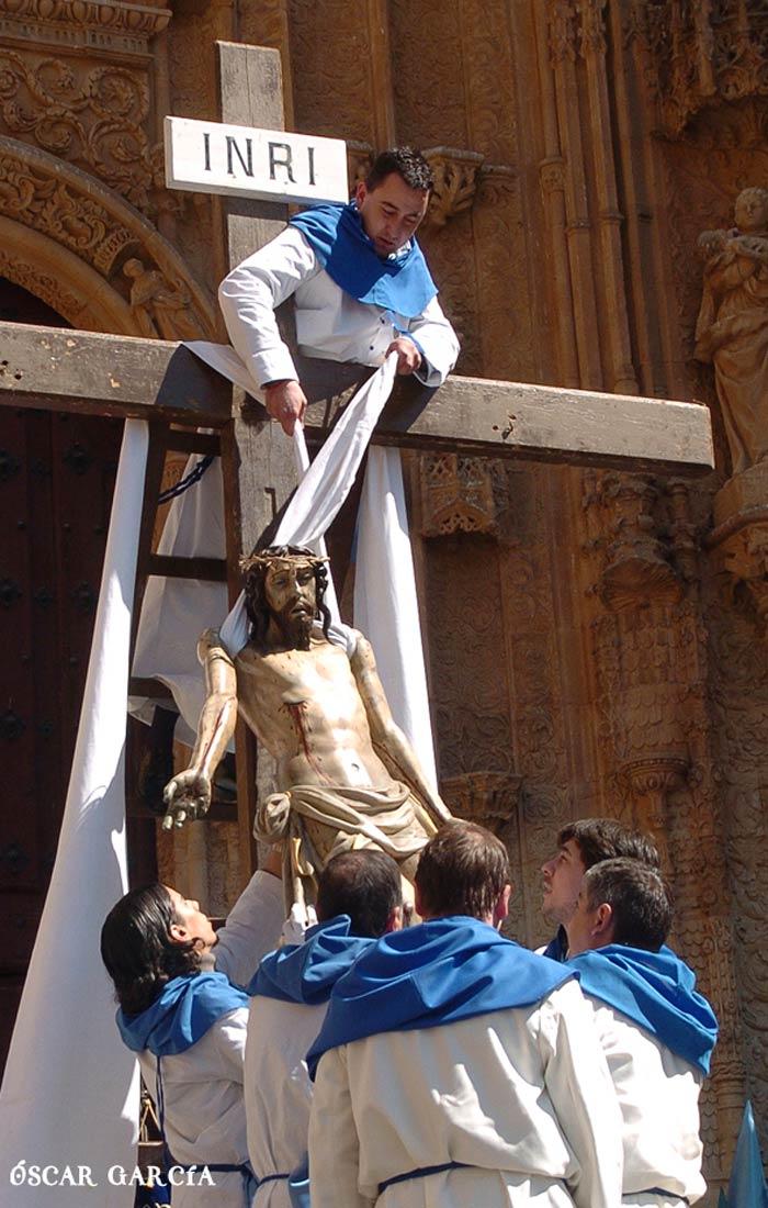 Acto del Descendimiento el Viernes Santo Semana Santa Salamanca