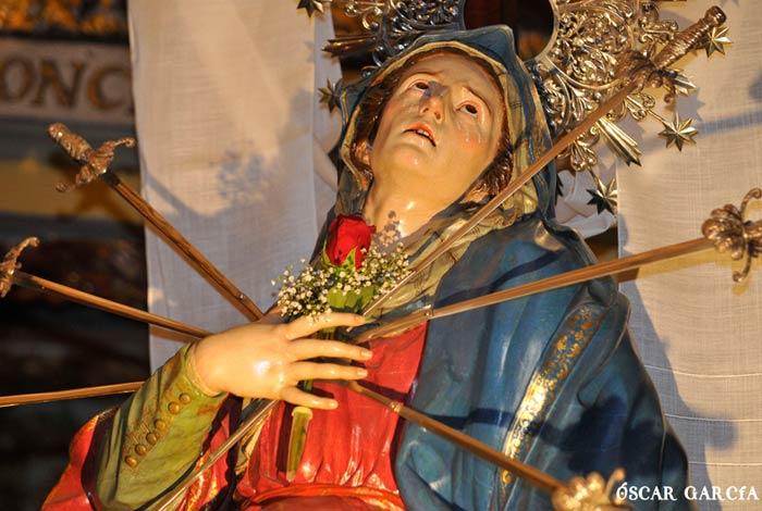 Virgen Dolorosa el último Viernes de Cuaresma Semana Santa Salamanca