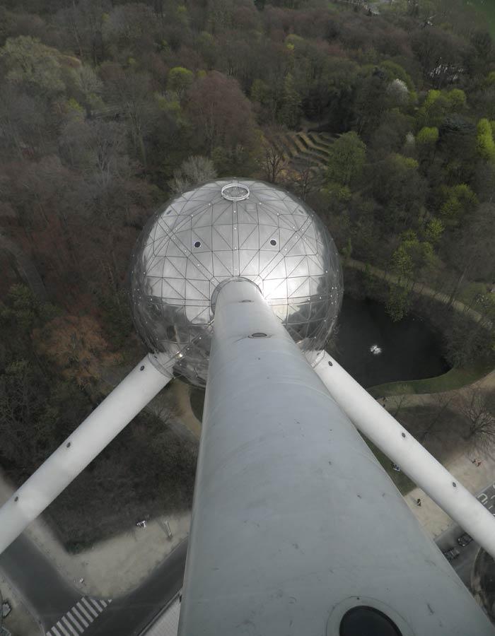 Una de de las esferas del Atomium de Bruselas
