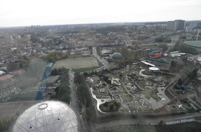 Mini Europe desde el Atomium de Bruselas