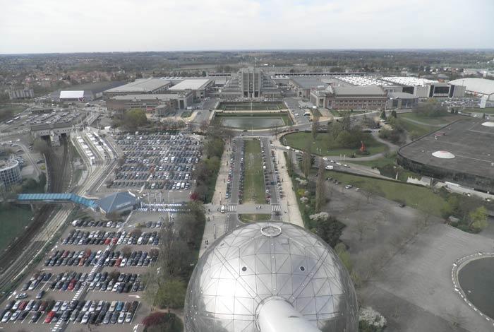 Parque Heysel desde el Atomium de Bruselas