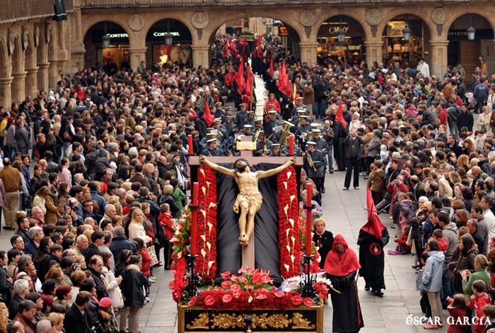 Santísimo Cristo de la Vela de la Hermandad del Silencio el Sábado Santo Semana Santa Salamanca