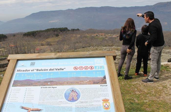 Mirador el Balcón del Valle en Piornal senderismo en el Jerte