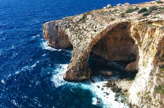 La Gruta Azul o Blue Grotto de Malta