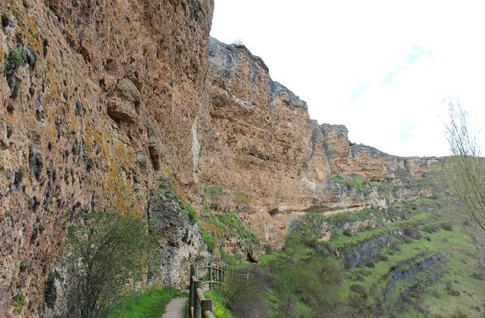 Parte del sendero que transita junto al cortado Senda de los dos Ríos