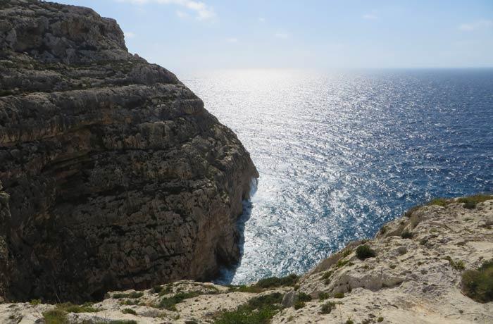 El Mediterráneo, desde el mirador de la Gruta Azul Malta
