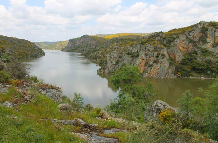 Vista del Duero desde la inmediaciones de la Cascada de Abelón