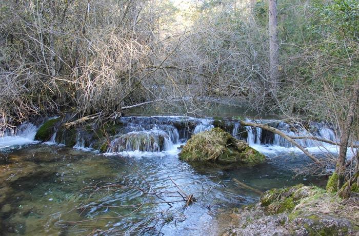 Una de las imágenes que depara los primeros pasos del río Cuervo