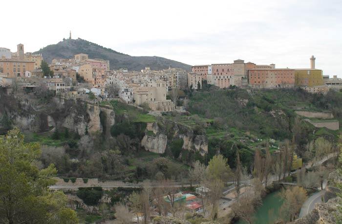 Vista del casco histórico de Cuenca ruta de la Hoz del Júcar