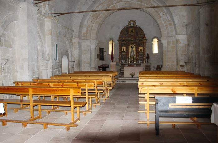 Interior de la ermita de San Frutos Hoces del Duratón