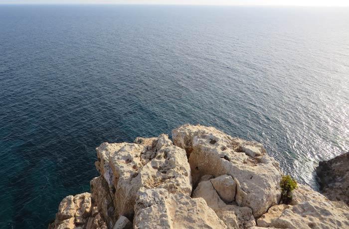 Acantilado del Cap de Barbaria que ver en Formentera