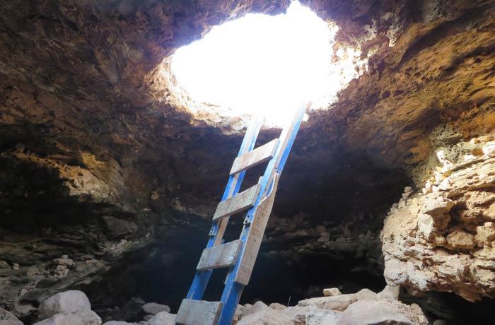 Cova foradada en el Cap de Barbaria que ver en Formentera