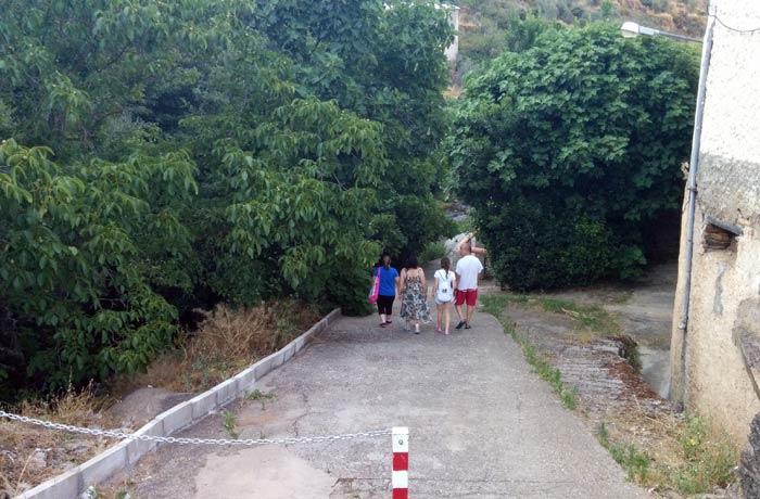 Entrada a la piscina natural de Valero