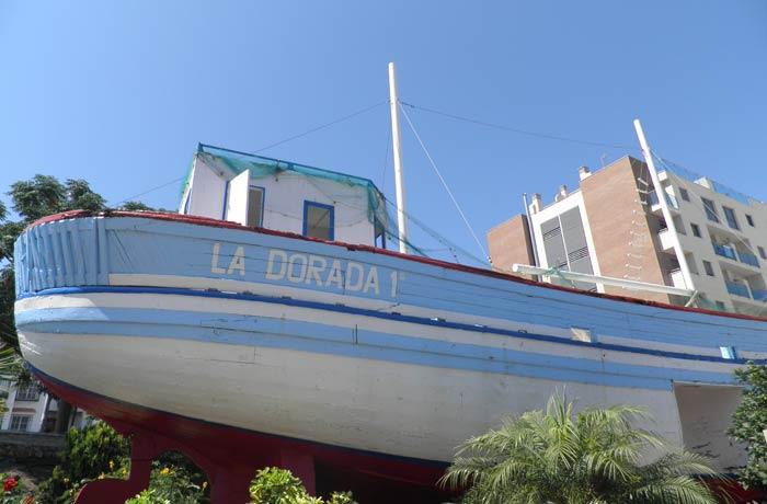 """Otra vista de """"La dorada 1ª"""", el """"barco de Chanquete"""""""