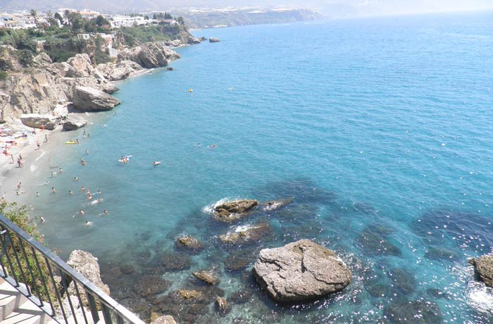 Panorámica desde el Balcón de Europa Nerja