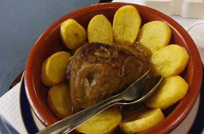 Carne asada de ternera del restaurante Marigil comer en el Algarve