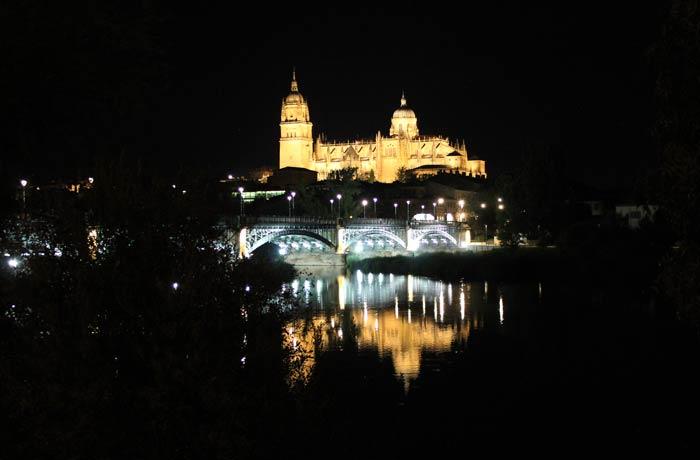 Otra panorámica de la Catedral y el puente Enrique Estevan vistas de Salamanca