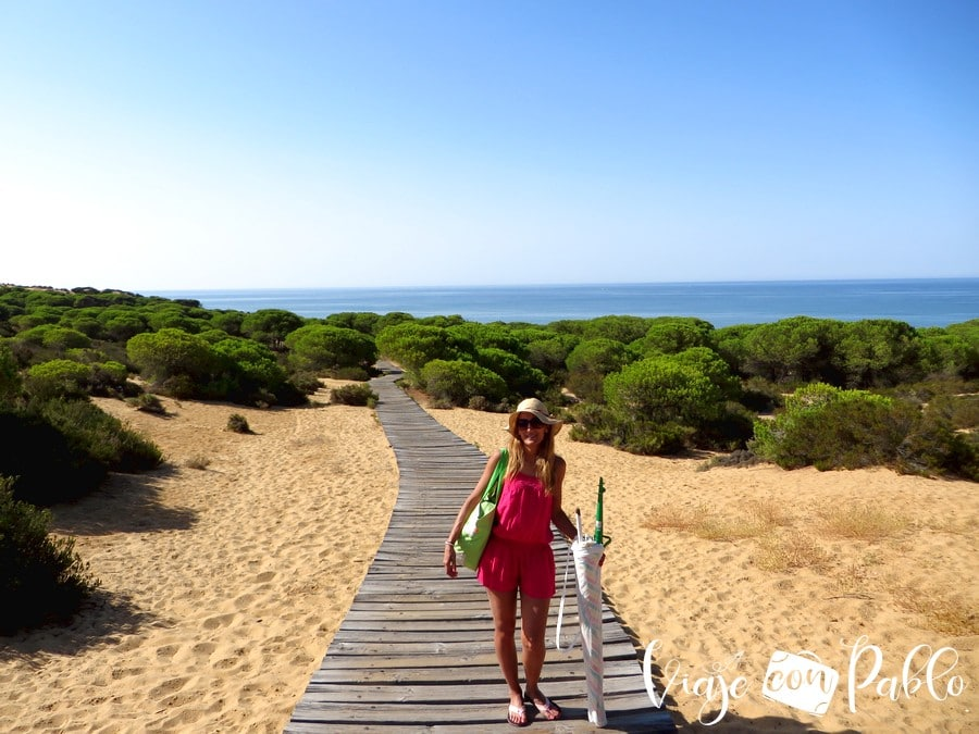 Pasarela que lleva a la playa de Cuesta Maneli playas de Huelva