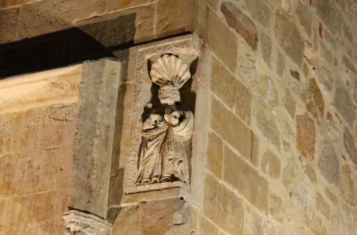Escultura en la iglesia de San Polo descubierta recientemente
