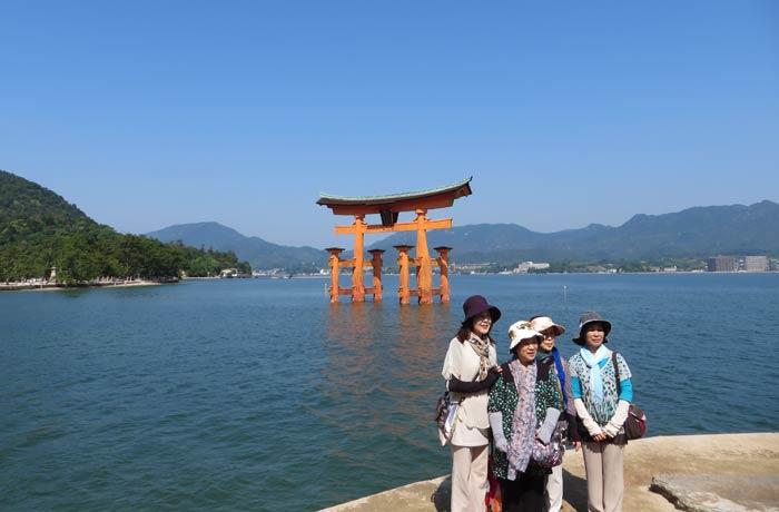 Torri flotante de Miyajima Japón por libre