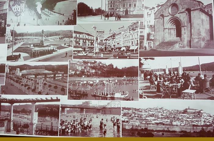 Fotos antiguas de Coimbra en el interior de la Pastelaria Briosa