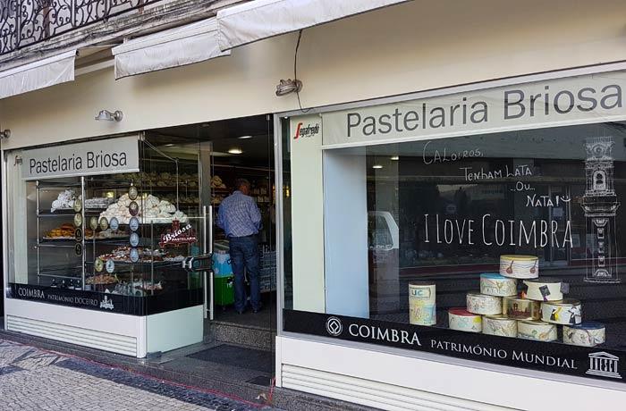Pastelaria Briosa comer en Coimbra